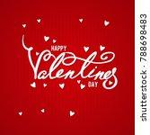 happy valentines day typography ... | Shutterstock .eps vector #788698483