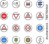 line vector icon set  ... | Shutterstock .eps vector #788700463