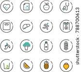 line vector icon set   heart... | Shutterstock .eps vector #788700613