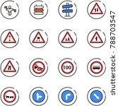 line vector icon set   traffic...   Shutterstock .eps vector #788703547