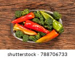 high angle view of fresh red... | Shutterstock . vector #788706733