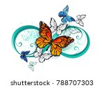 symbol infinity with realistic... | Shutterstock .eps vector #788707303