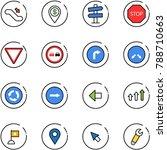 line vector icon set  ... | Shutterstock .eps vector #788710663