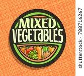 vector logo for vegetables | Shutterstock .eps vector #788716267