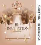 beautiful vip invitation banner ... | Shutterstock .eps vector #788718547