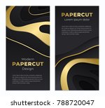 abstract paper cut background...   Shutterstock .eps vector #788720047