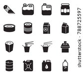 solid black vector icon set  ... | Shutterstock .eps vector #788725597