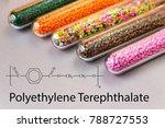 granules of polyethylene... | Shutterstock . vector #788727553