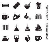 solid black vector icon set  ... | Shutterstock .eps vector #788728357
