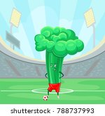 funny broccoli cabbage soccer... | Shutterstock .eps vector #788737993