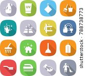 flat vector icon set   cleanser ... | Shutterstock .eps vector #788738773