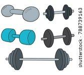 vector set of dumbbell | Shutterstock .eps vector #788739163