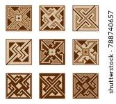set of parquet floor  or... | Shutterstock .eps vector #788740657