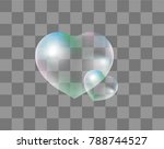 realistic soap bubbles heart... | Shutterstock .eps vector #788744527