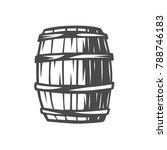 barrel. black and white vector... | Shutterstock .eps vector #788746183