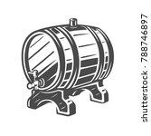 barrel. black and white vector... | Shutterstock .eps vector #788746897