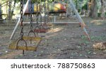 old weathered rusty swing set... | Shutterstock . vector #788750863
