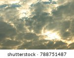 blue sky and white clouds for... | Shutterstock . vector #788751487