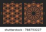laser cutting set. woodcut... | Shutterstock .eps vector #788753227