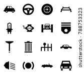 origami style icon set   car... | Shutterstock .eps vector #788753323