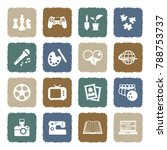 hobbies icons. grunge color...   Shutterstock .eps vector #788753737