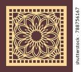 laser cutting panel. golden...   Shutterstock .eps vector #788756167