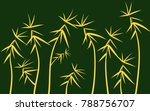 green twigs background.... | Shutterstock .eps vector #788756707
