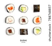 Seamless Pattern With Sushi....