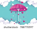 happy valentines day. purple... | Shutterstock .eps vector #788770597
