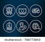 set of sale coupon  cash money...   Shutterstock .eps vector #788773843