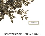 vector invitation with elegant... | Shutterstock .eps vector #788774023
