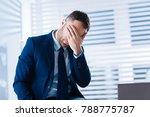oh no. emotional hardworking... | Shutterstock . vector #788775787