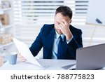 so tired. young exhausted... | Shutterstock . vector #788775823