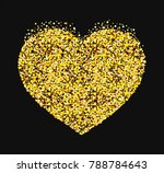 vector image of painted heart... | Shutterstock .eps vector #788784643