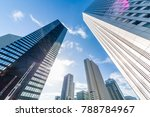 high rise building group in... | Shutterstock . vector #788784967