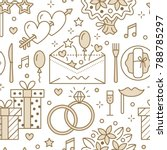 wedding party seamless pattern  ... | Shutterstock .eps vector #788785297