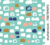shaped grunge seamless... | Shutterstock .eps vector #788789893