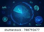 concept of face scanning  radar ...   Shutterstock .eps vector #788792677