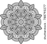 figure mandala for coloring... | Shutterstock .eps vector #788793277