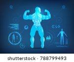 concept of sports science ... | Shutterstock .eps vector #788799493