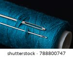 Coil Of Dark Blue Thread And...