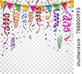 colorful confetti on white...   Shutterstock . vector #788800993