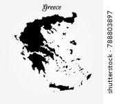 map of greece | Shutterstock .eps vector #788803897