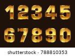 gold numbers set.vector golden... | Shutterstock .eps vector #788810353