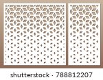 set decorative card for cutting.... | Shutterstock .eps vector #788812207