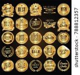 retro vintage golden badges... | Shutterstock .eps vector #788812357