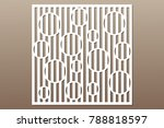 decorative card for cutting....   Shutterstock .eps vector #788818597