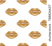 Golden Woman Lips Background....