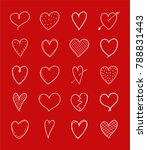 collection of hand drawn heart... | Shutterstock .eps vector #788831443