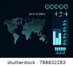 world map with different...   Shutterstock .eps vector #788832283
